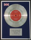 "THE STONE ROSES --7"" Platinum Disc -  ONE LOVE"